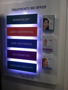 Treatments available at Sk:n Cardiff