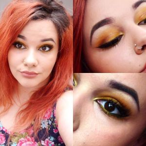 instagram makeup challenge yellow eyeshadow