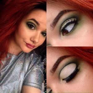 green eyeshadow make up challenge